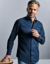 Men´s Long Sleeve Tailored Contrast Ultimate Stretch Shirt